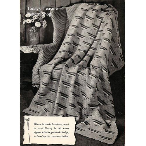 Vintage Wigwam Crochet Afghan Pattern