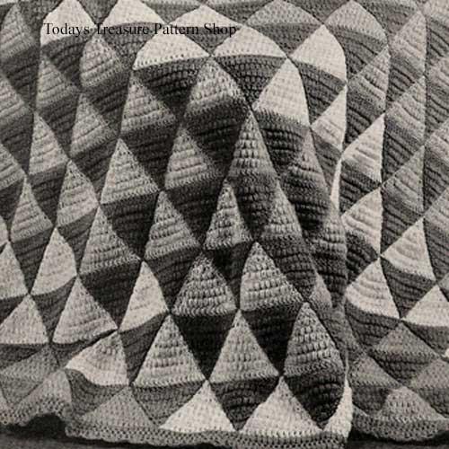 Vintage Harlequin Afghan Crochet Pattern