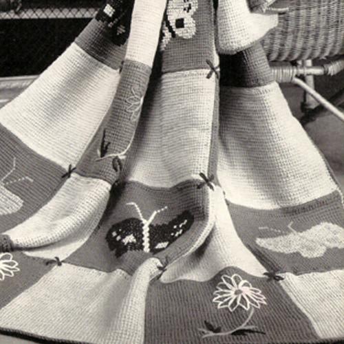 Butterfly Block Crochet Afghan Pattern