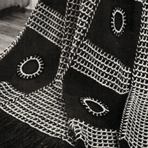 Black White Crochet Afghan Pattern