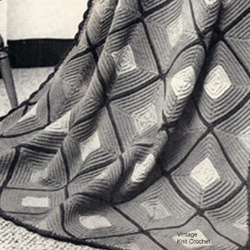Crochet Victorian Afghan Pattern in Marvel Twist Yarn