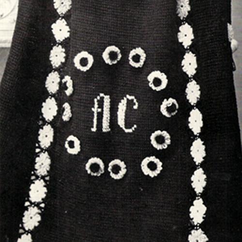 Vintage Knit Wit Crocheted Afghan Pattern