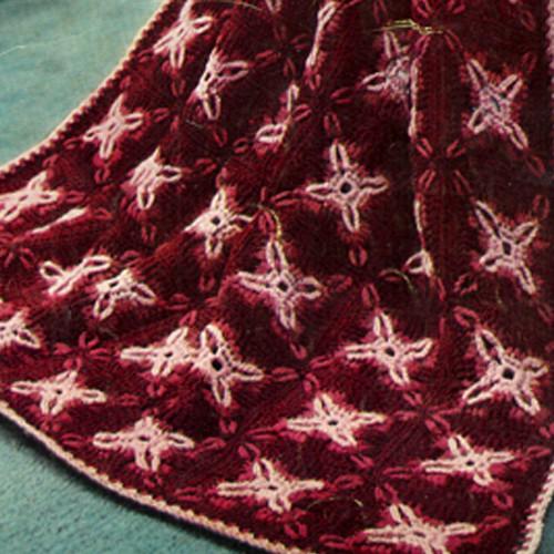Vintage Modern Granny Crochet Afghan Pattern