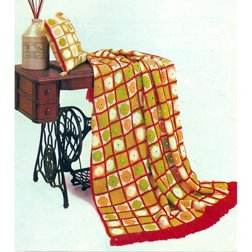 Vintage Small Medallion Crochet afghan Pattern