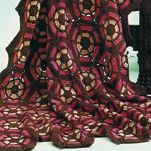Red Crochet Afghan Pattern, Vintage Spinnerin