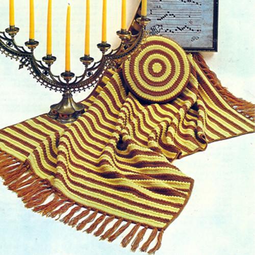 Brightly Colored Apreggio Afghan Crochet Pattern
