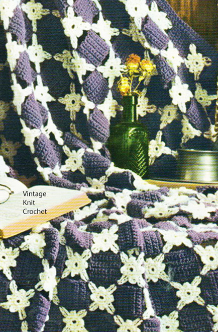 Beginners Crochet Afghan Pattern, Daisy Squares