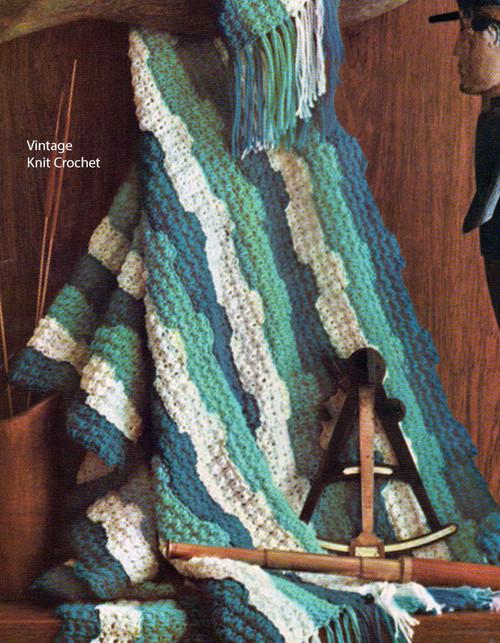 Crocheted Ripple Blanket Pattern