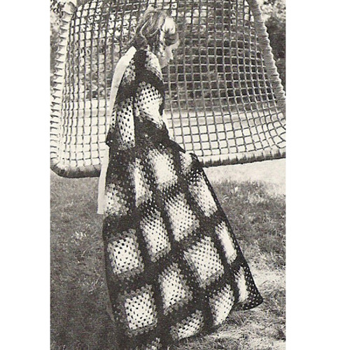 Three Color Crochet Granny Afghan Pattern