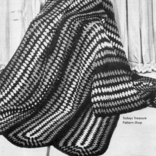 Vintage Cluster Stitch Crocheted Afghan Pattern
