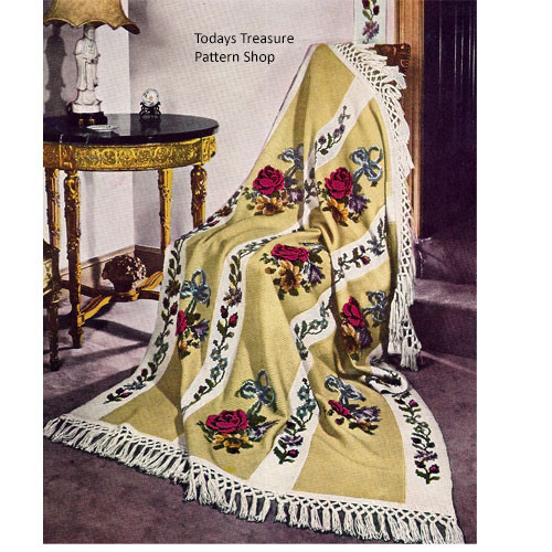 Heirloom Rose Crochet Afghan Pattern