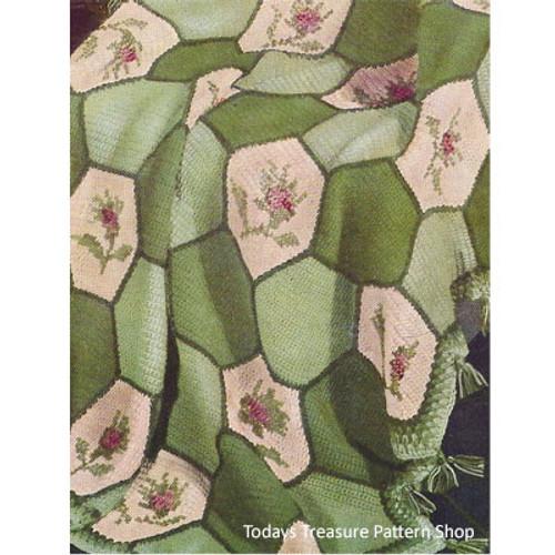 Hexagon Floral Crochet Afghan Pattern