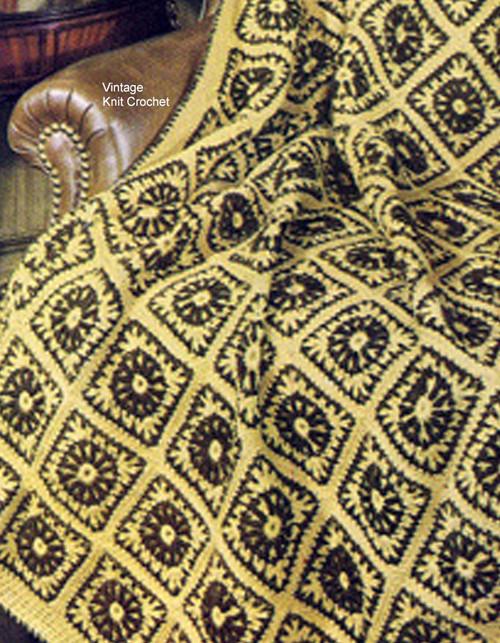 Sunflower Crochet Afghan Pattern