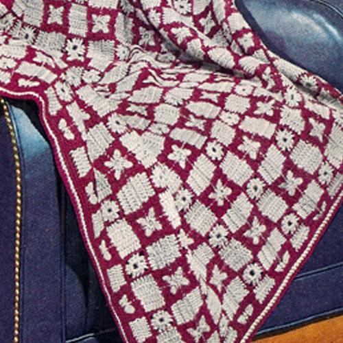 Vintage Tally Ho Afghan Crochet Pattern