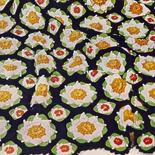 Vintage Crochet Pattern flowers Afghan