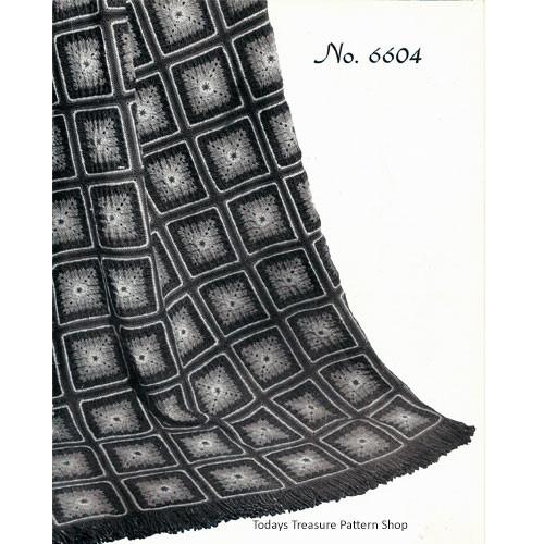 Victoria Crochet Granny Afghan Pattern No 6604