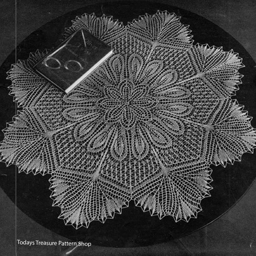 Vintage Viennese Lace Doily Knitting Pattern with Scalloped Edges