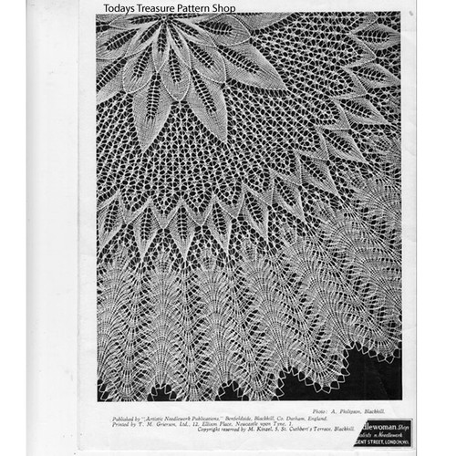 Viennese Lace Knitted Centerpiece Doily Pattern
