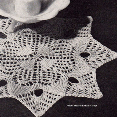 Vintage Starry Night Doily Knitting Pattern