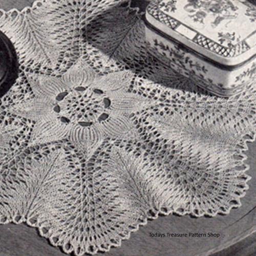 Knitting Pattern Scalloped Doily