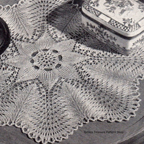 Knitting Pattern Scalloped Doily