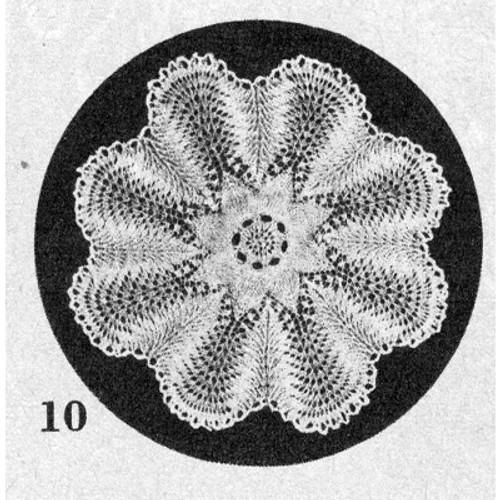Knitting Pattern Vintage Doily No 10