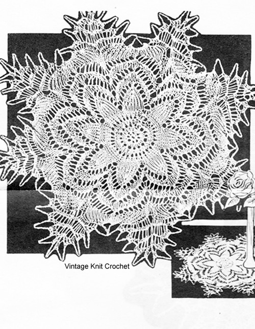 Star Doily Knitting Pattern, 8 inches, Peggy Roberts R2838