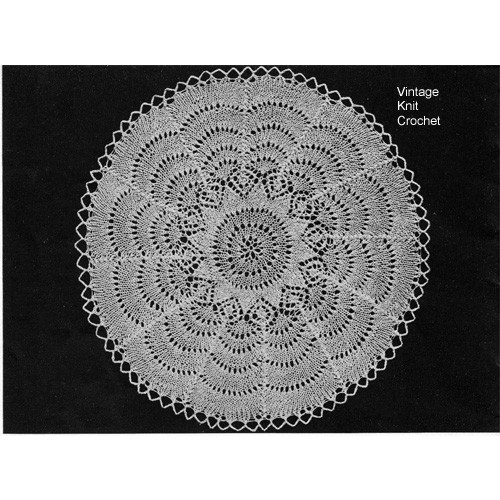 Knitted Scalloped Doily Pattern, Medium