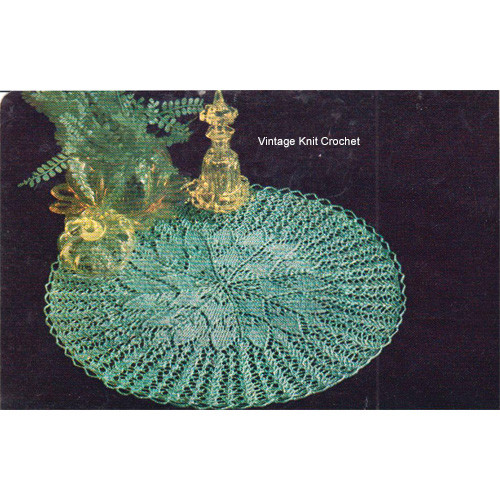 Knitted Lace Doily Pattern, Sunburst