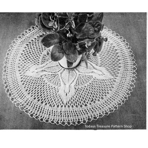 Knitted Pineapple Doily Round Pattern