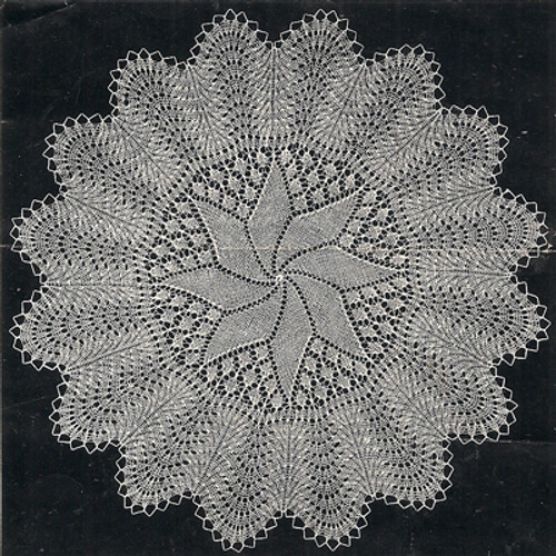 Pinwheel Knitted Doily Lace Pattern of Anne Marie Jensen