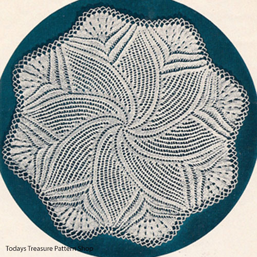 Knitted Pinwheel Doily Pattern from American Thread