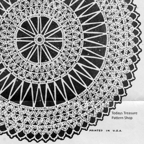 Vintage Crochet Pattern for Cluster Doily
