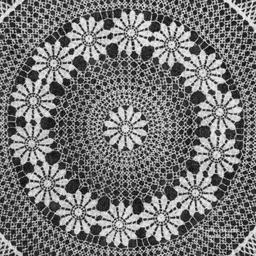 Daisy Ring Crochet Doily Pattern Detail