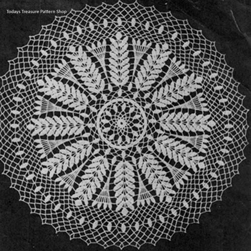 Vintage Wheat Wheel Crochet Doily pattern