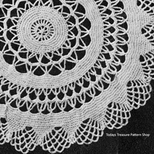 Vintage Circles Crocheted Doily Pattern