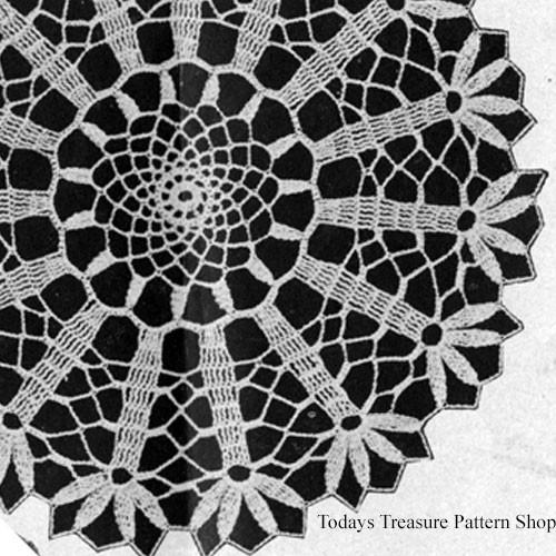Crocheted Tulip Doily Crochet Pattern from McCalls
