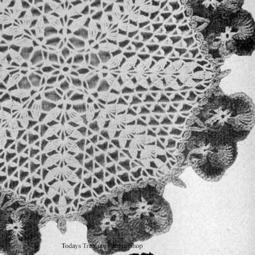 Vintage Pansy Doily Crochet Pattern