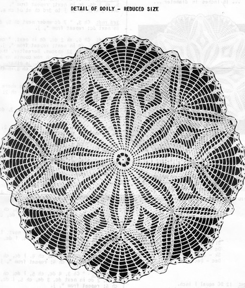 Anne Cabot Crochet Doily pattern Illustration No R-2590