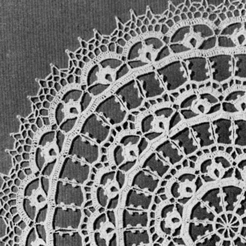 Vintage Crochet Doily Pattern, Persian Wheel