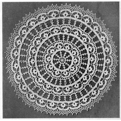 Large Persian Wheel Crochet Doily Pattern