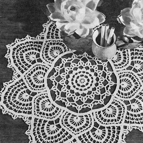 Vintage Fandango Crochet Doily Pattern, Vintage 1960s