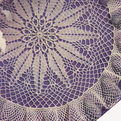 Crochet Poinsettia Doily Pattern with Ruffled Border