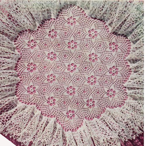 Vintage Ruffled Flower Doily Crochet Pattern