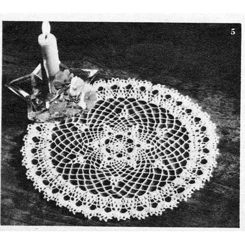 335 Vintage Laura Wheeler Filet WIDE FLOWER BORDER Pattern to Crochet Reprint