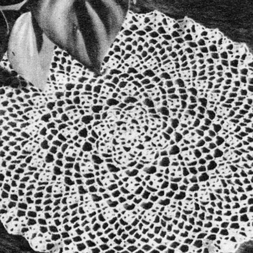 Vintage Crochet Pattern for Picot Doily
