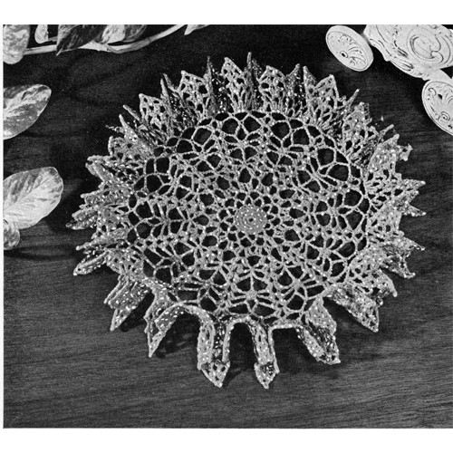 American Thread Star Spangled Doily Crochet Pattern