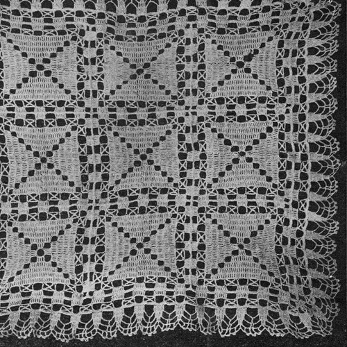 Crochet Square Pattern for Chair Back
