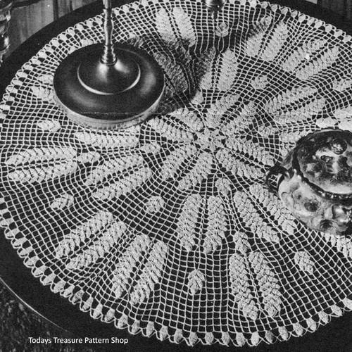 Crochet Pattern Centerpiece Wheat Doily