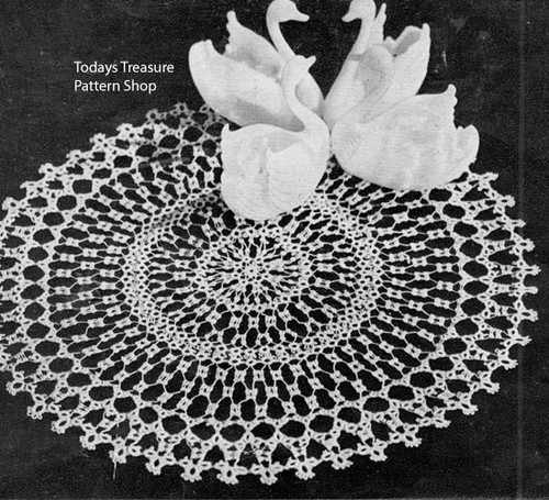 Vintage Tatted Doily Pattern from American Thread